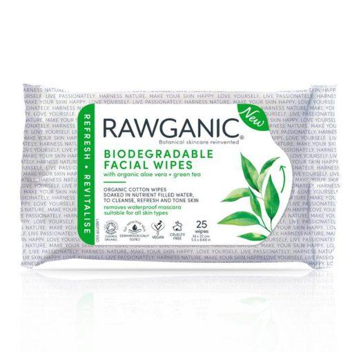 Rawganic Aloe Vera & Yeşil Çay Özlü Yüz Temizleme Mendili 1